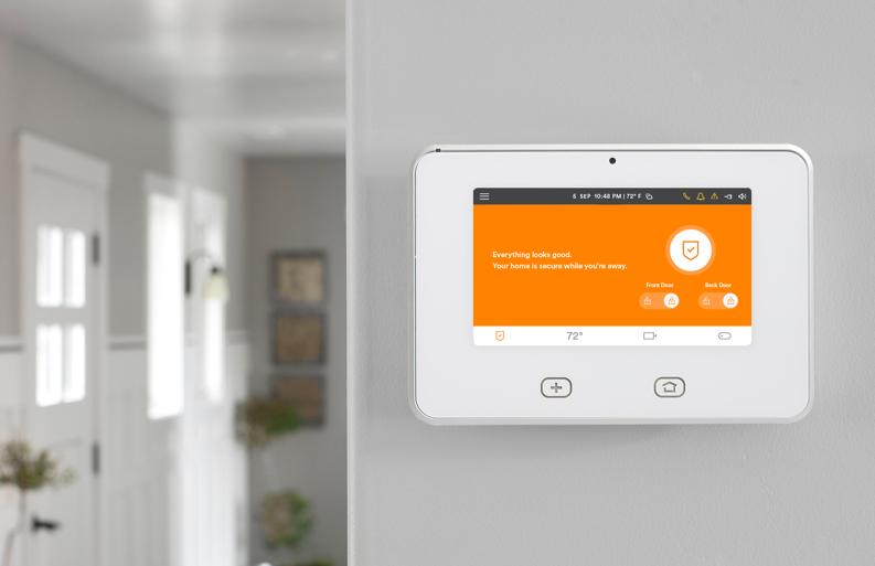 Google Home And Vivint Go Control Panel