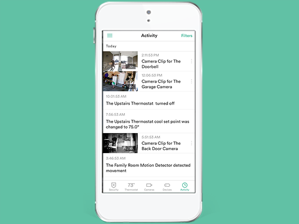 Smart Home App - Activity Feed