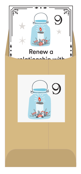 Get a new service challenge each day with a Christmas advent calendar of service