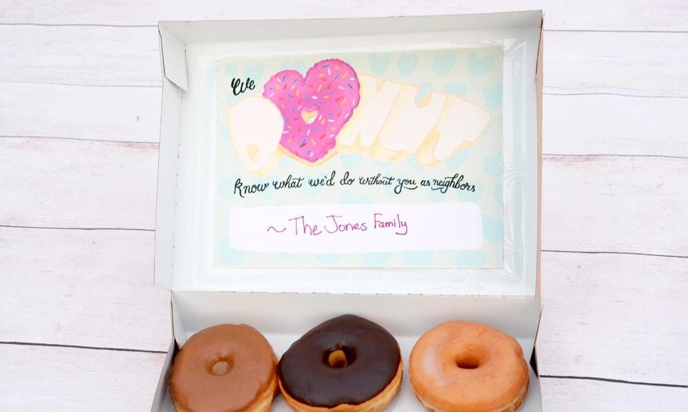 Free donut Valentines printable