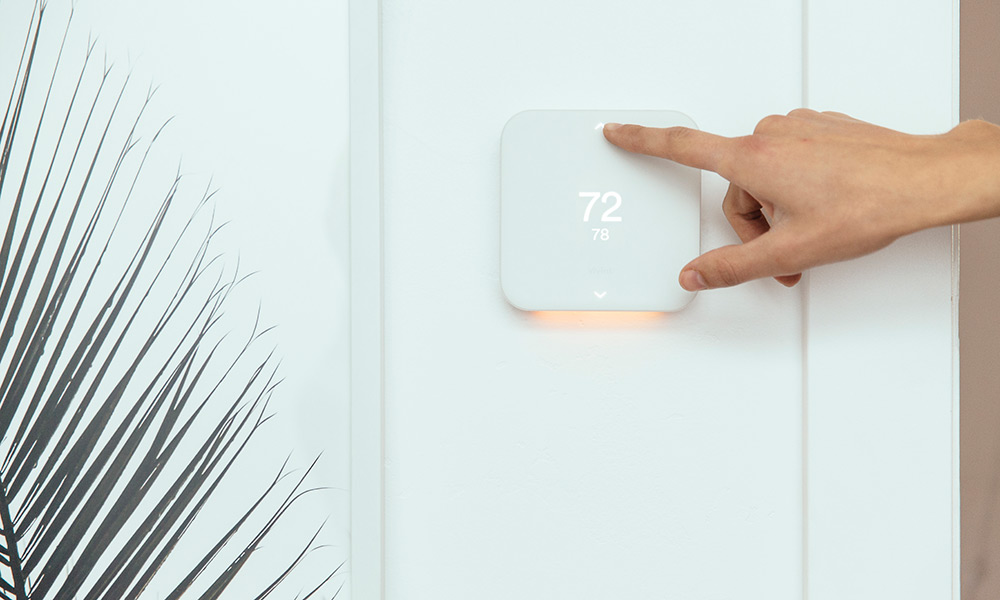 The Vivint Element Thermostat is a smart thermostat that helps manage energy efficiency and provide comfort