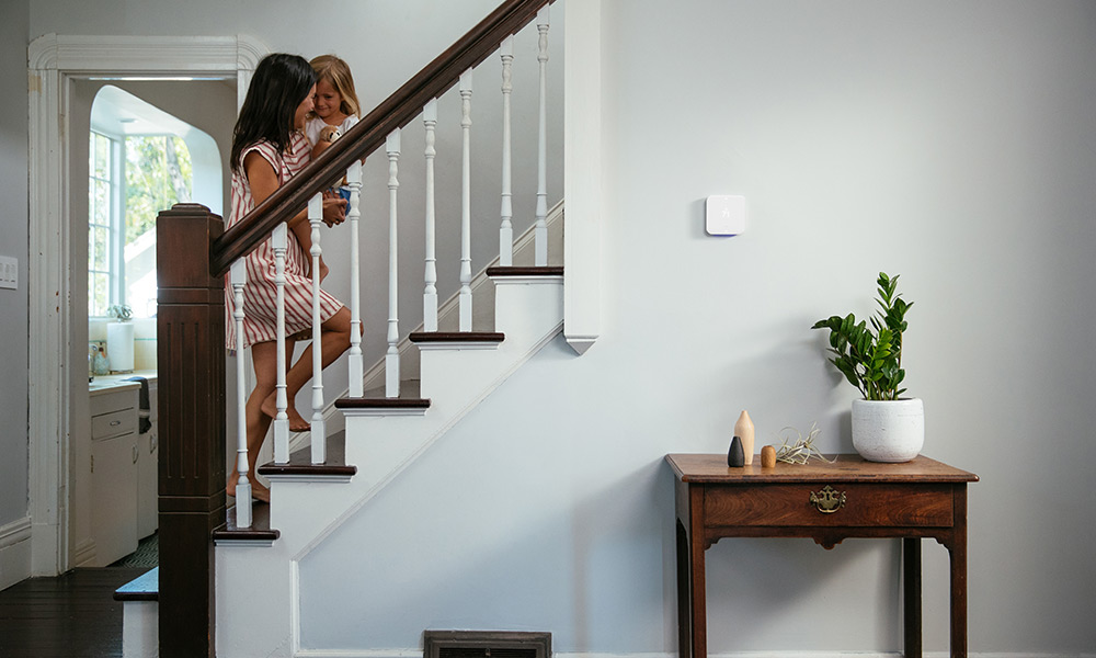 An Element Thermostat keeps the temperature comfortable in a smart home