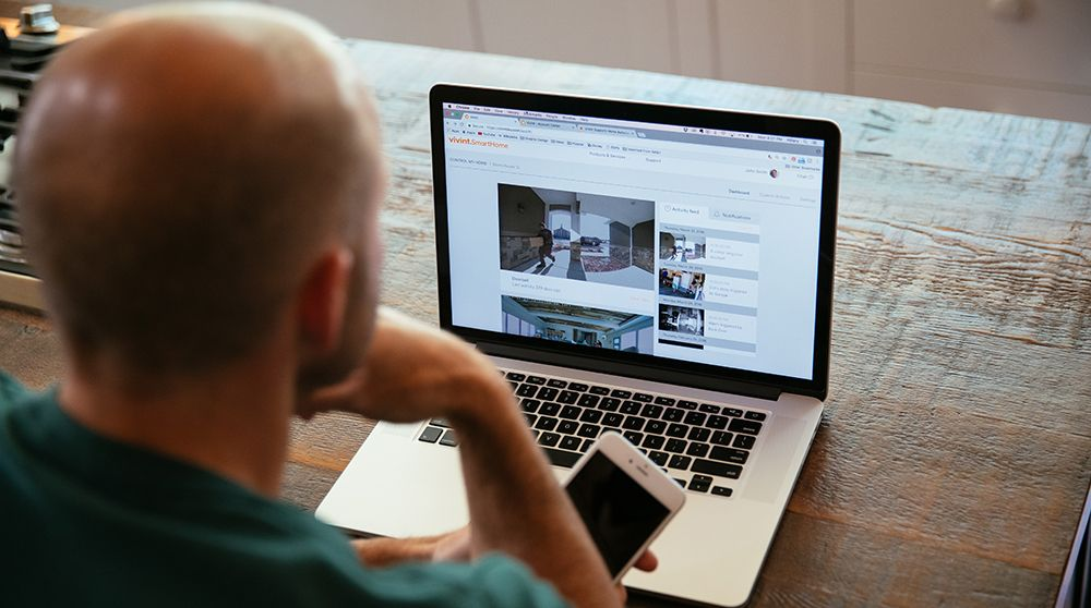 With Vivint, you can review your camera footage at your convenience