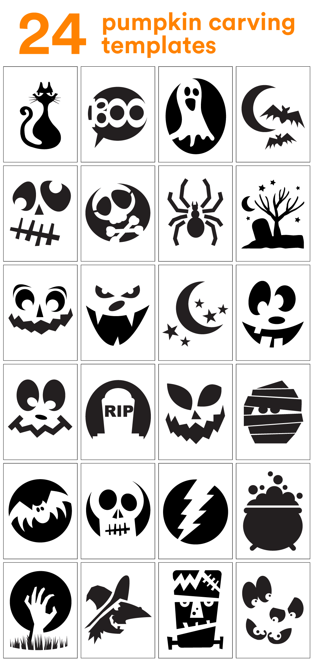 photo regarding Pumpkin Outlines Printable named How in direction of Carve the Coolest Pumpkin upon the Block (Carving