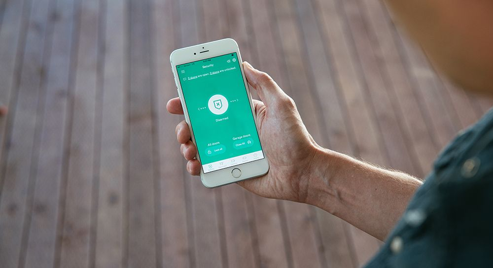 Vivint app Smart Lock Notification