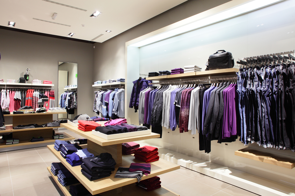 well-organized clothing store