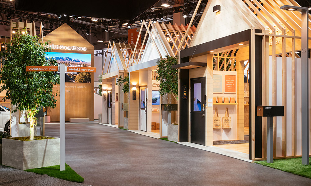 Vivint Smart Home Booth at CES 2018