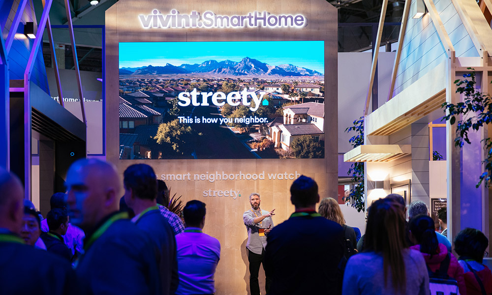Matt Mahar of Vivint explains the features of Streety at CES