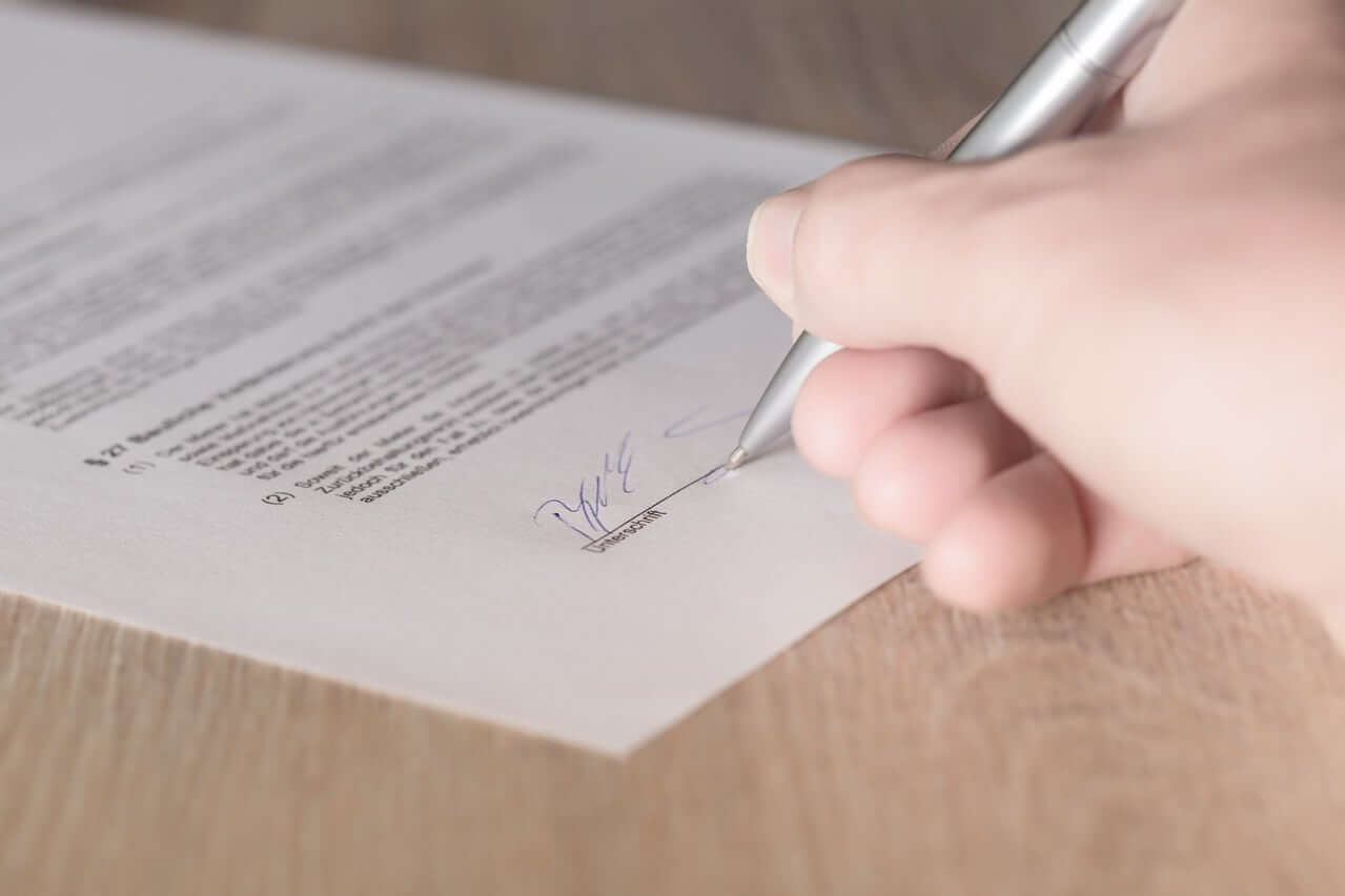 Signing a security system contract