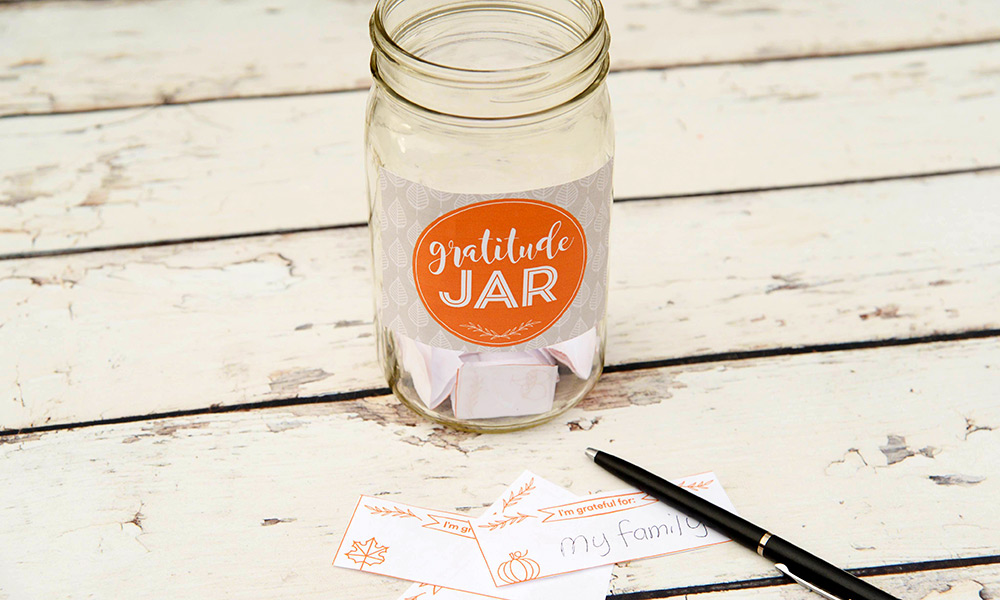 Create An Attitude Of Gratitude With A Gratitude Jar Free Printable Included Vivint Smart Home