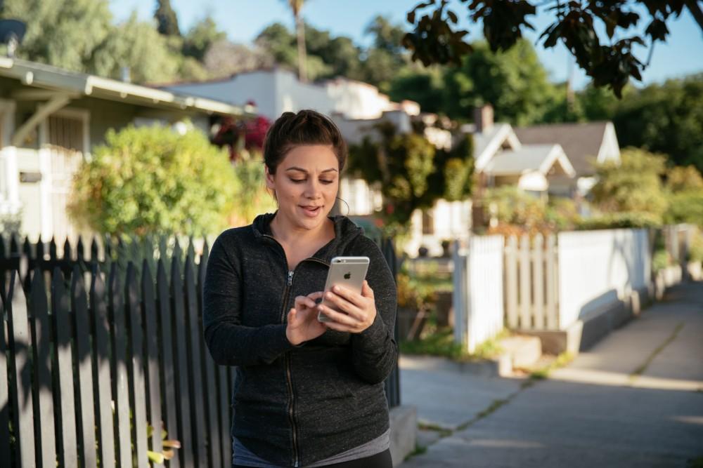 Vivint Woman Smart Home App
