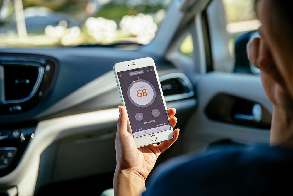 Vivint app for setting temperature
