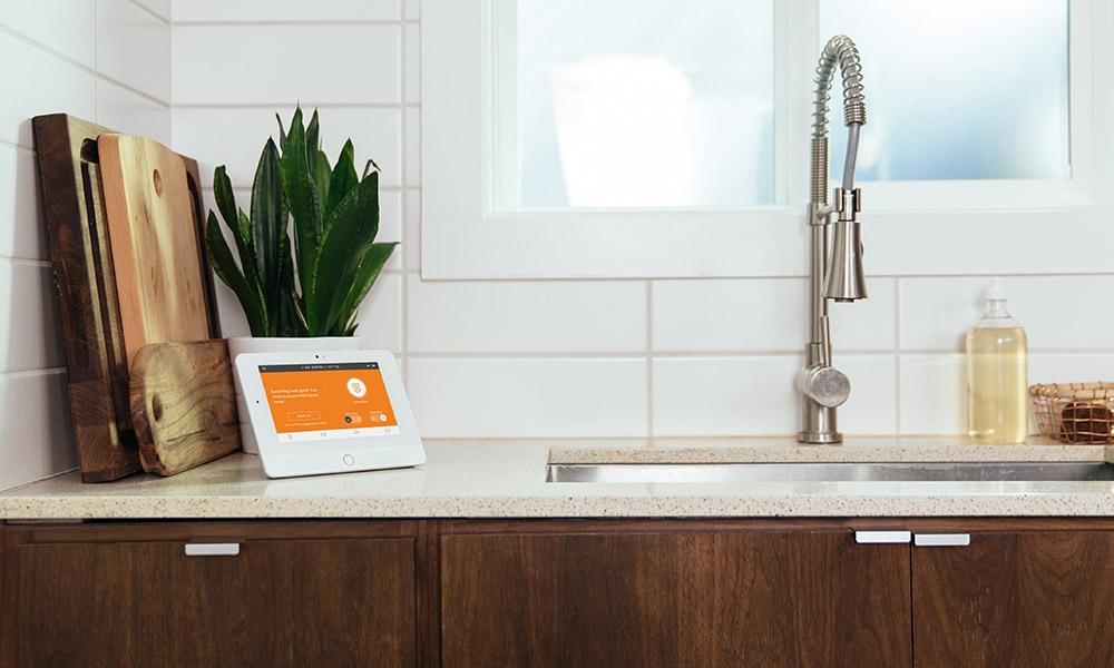 Vivint glance display in the kitchen