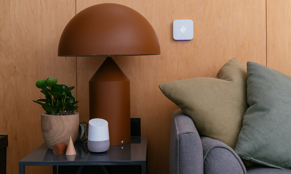 Google Home voice control of smart thermostat