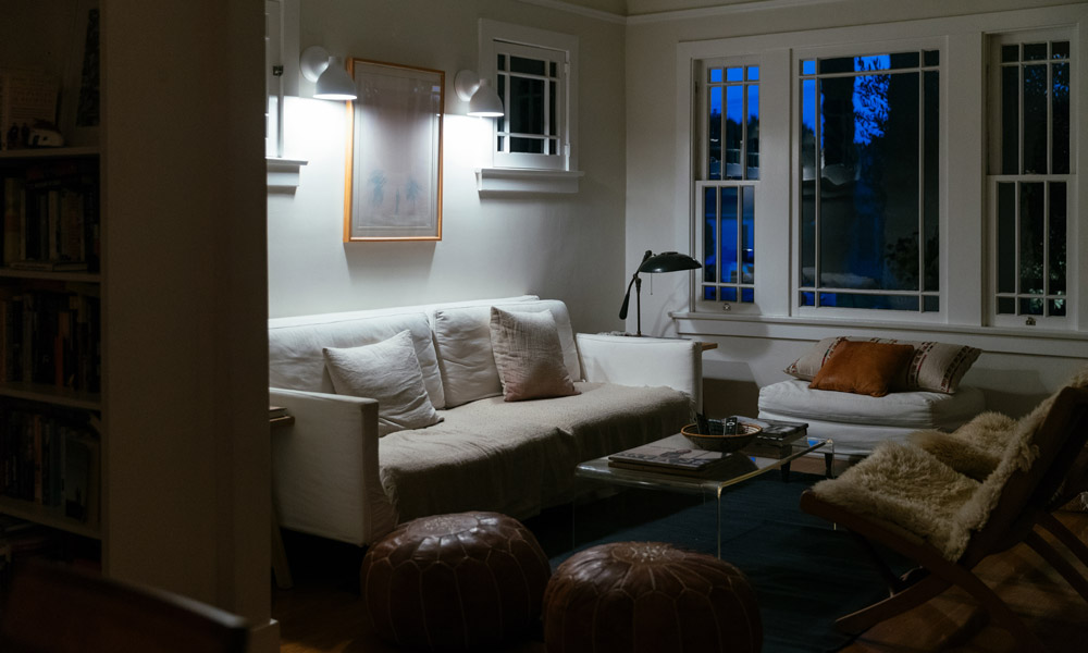 Smart Lighting living room at night