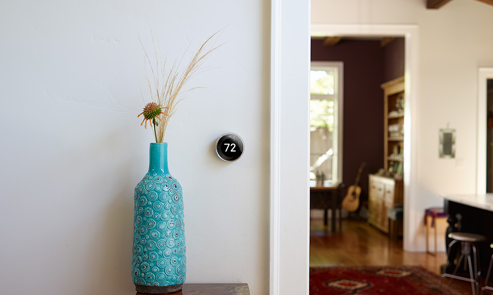 Nest Thermostat in an open space