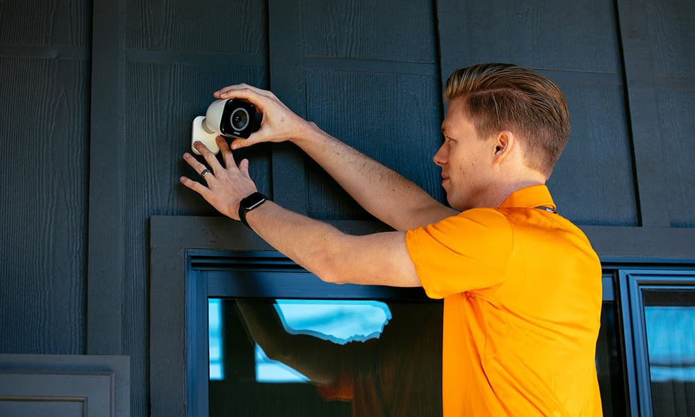 Vivint Outdoor Camera Pro Installation Orange
