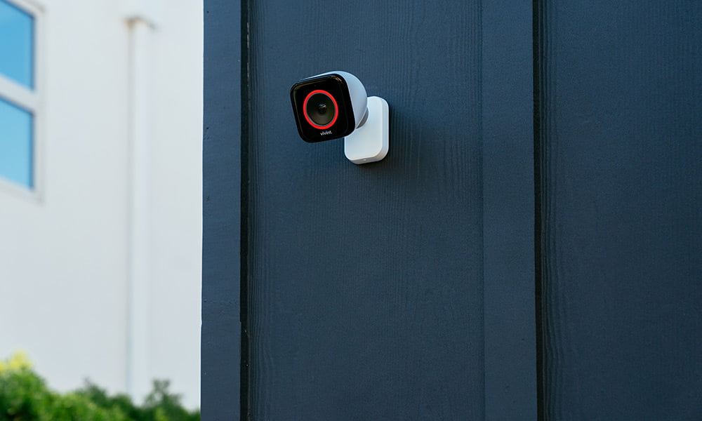 Vivint Outdoor Camera Pro Ring Red Side House.