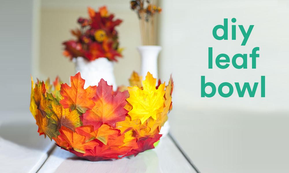 Diy Fall Decor Leaf Bowl