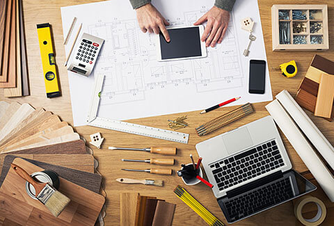 Home improvement tools, tech, and house plans