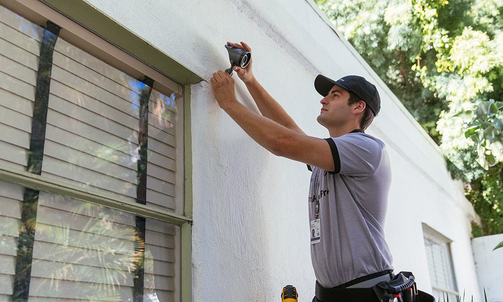 vivint smart home pro outdoor camera installation